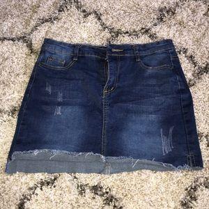 ROMWE Jean skirt.